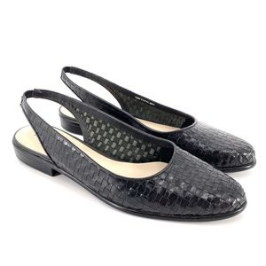 Trotters Handwoven Leather Slingback Lucy Flats